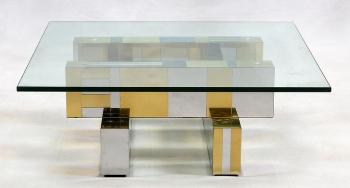 PAUL EVANS 'CITYSCAPES' CHROME PLATED TABLE