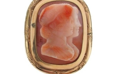 A late 18th - early 19th hardstone cameo...