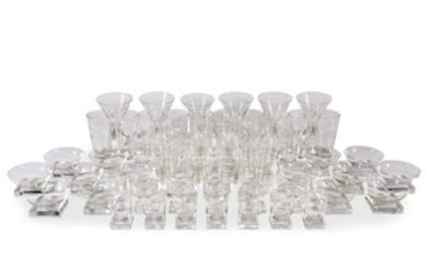 An assembled group of glass stemware and barware 20th...