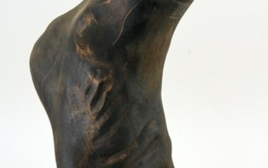 CARVED WOOD SCULPTURE OF A FOOT