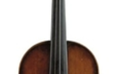 Mittenwald Violin - C. 1820, labeled JACOBUS STAINER…, length of two-piece back 355 mm.