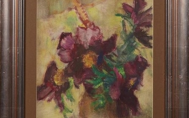 "Hungarian School, ""Still Life of Flowers in a Vase,"""