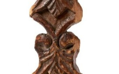 A carved wood element, Ottoman, 19th century...