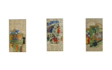 FIVE FOLIOS FROM THE SHAHNAMA Herat, Afghanistan, late