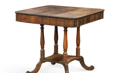 An Anglo-Indian exotic hardwood occasional table