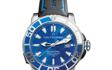 CARL F. BUCHERER PATRAVI SCUBATEC ONLY WATCH 2019 As a watchmaker, Carl F. Bucherer is aware of how precious every second is. In this spirit the manufacturer created a one-of-a-kind Patravi ScubaTec timepiece in 18-carat white gold exclusively for the...,