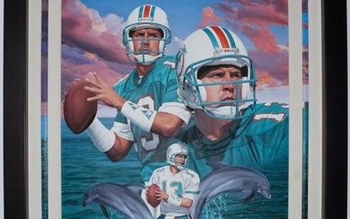 "Danny Day Miami Dolphins ""DAN MARINO"" Oil Painting"