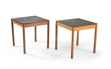 FDB Møbler, Denmark, two square tables and two rectangular bases only