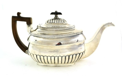 A George III Silver Teapot, by William Bennett, London, 1807,...