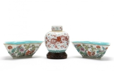 A Group of Chinese Porcelain Tableware