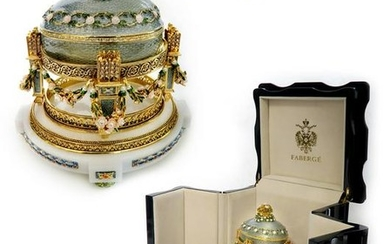 Large Faberge Imperial Love Trophies Egg