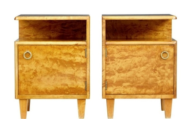 PAIR OF MID 20TH CENTURY SWEDISH BIRCH BEDSIDE TABLES