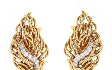 Vintage Tiffany & Co Diamond and 18K Earrings