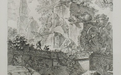 Piranesi, Giovanni: ALLEGORY OF RUINS WITH STATUE OF MINERVA, Year 1748