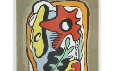 AFTER FERNAND LÉGER (french, 1881–1955) COMPOSITION WITH FLOWER AND...