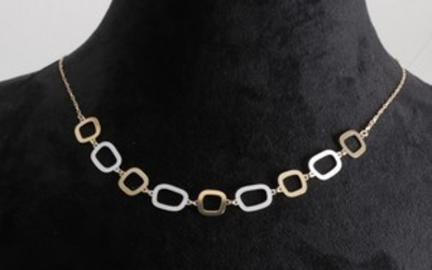Necklace in 14k bicolour gold