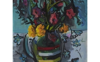 UNKNOWN ARTIST (20th century) SUMMER FLOWERS Signed 'BON*' indistinctly...