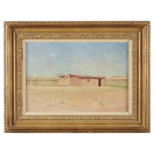 """FRANK REED WHITESIDE (american, 1866–1929) """"THE CORRAL GATE"""" Signed..."""