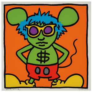 Keith Haring - Keith Haring: Plate from Andy Mouse Portfolio