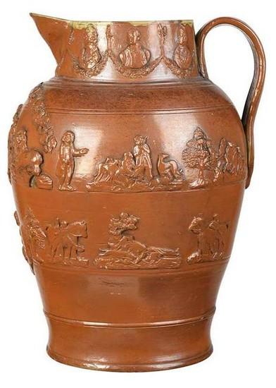Monumental Stoneware Jug with Royal Arms