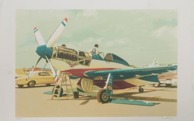 Tom Blackwell, Red, White and Blue Mustang, Serigraph