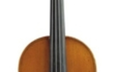English Violin - C. 1900, possibly George Pyne, unlabeled, length of two-piece back 359 mm.