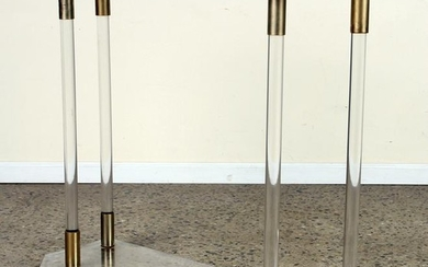 FRENCH LUCITE AND BRASS CONSOLE TABLE C.1970