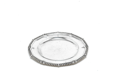 A George IV silver plate