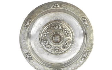 A parcel-gilt electrotype of a 16th century basin
