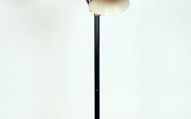 BRASS AND IRON FLOOR LAMP ADJUSTABLE ARMS C.1950