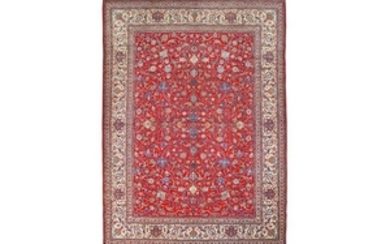 FINE NAIN TUDESHK CARPET, CENTRAL PERSIA