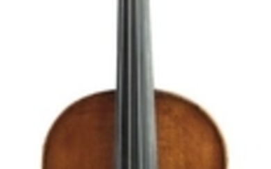 French Violin - C. 1900, branded D. NICOLAS AINE to the interior back, length of one-piece back 361 mm.
