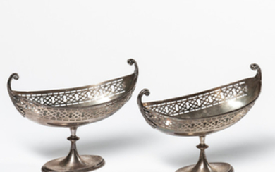 Pair of George V Sterling Silver Sauceboats
