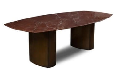 A Knoll Rouge Marble Top Dining Table