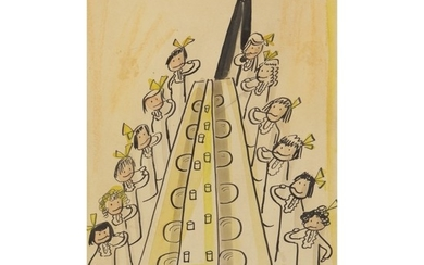 LUDWIG BEMELMANS | AN ILLUSTRATION FOR 'MADELINE' (AND BRUSHED THEIR TEETH)