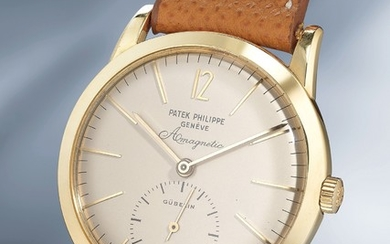 Patek Philippe, Ref. 2570-1 An extremely rare and attractive anti-magnetic yellow gold wristwatch with elongated hour-markers