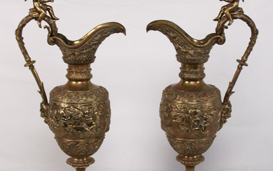 PR. OF FRENCH BRONZE EWERS