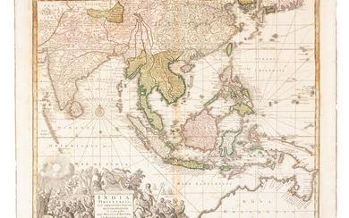 Seutter map of Southeast Asia