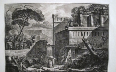 Piranesi, Francesco: View of the Mausoleum of Mamia in the City of Pompeii, Year 1788/89
