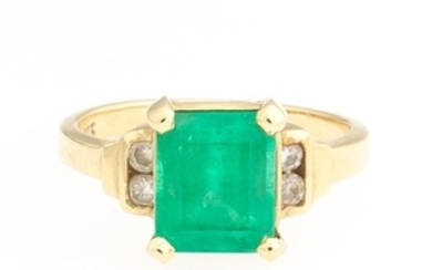 Ladies' Emerald and Diamond Ring