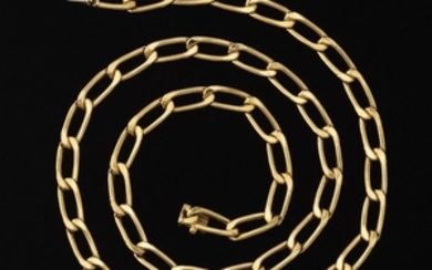 Italian Gold Chain Link Necklace