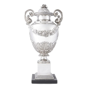 Classical silver covered urn William L. Adams (1802-1861) active...