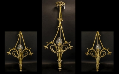 Early 20th Century French Light Fitting. Centre bulb with th...