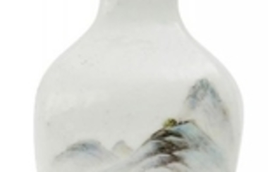 A Chinese porcelain Qianjiang cai square vase,...