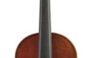 Contemporary Violin in Baroque Form - Unlabeled, length of two-piece back 356 mm.