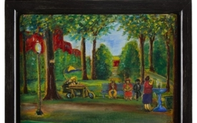 American School 20th century Two works depicting Port Jervis,...