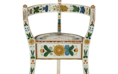 Antique Norwegian Painted Child's Chair