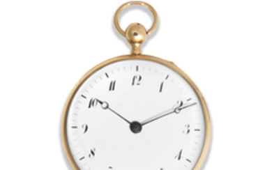 An 18K gold key wind quarter repeating open face pocket watch