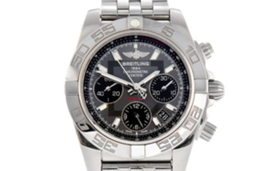 BREITLING - a gentleman's stainless steel Windrider Chronomat 41 chronograph bracelet watch.