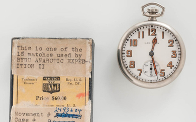 """Hamilton Watch Co. """"992"""" Open-face Watches from the Byrd Antarctic Expedition II"""